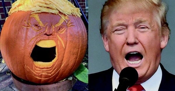 Stop the evil pumpkin head  & make Halloween great again  (a Halloween poem)