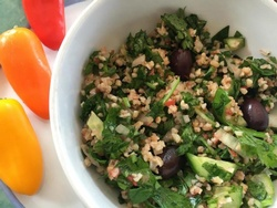 Tabbouleh that goes against the grain